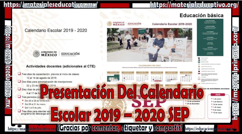 Calendario De Hacienda 2020.Presentacion Del Calendario Escolar 2019 2020 Sep