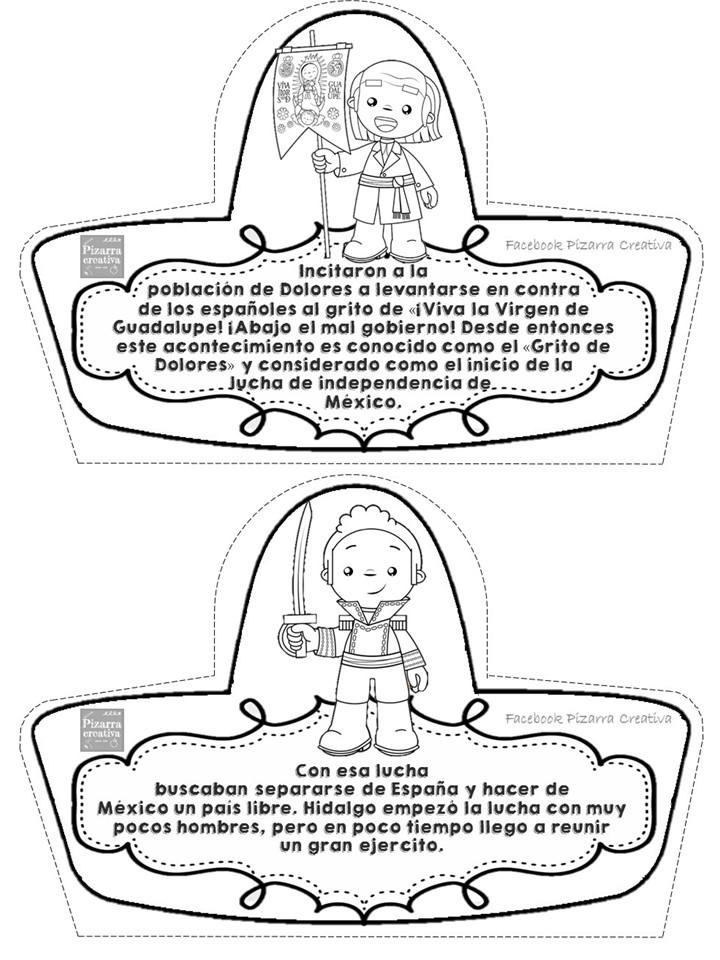 Historia Independencia De México Lee Colorea Recorta Y