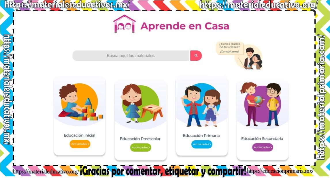 Portal Oficial Con Los Videos Y Preguntas Por Dia De Aprende En Casa De Educacion Basica De Las Clases Por Tv Material Educativo