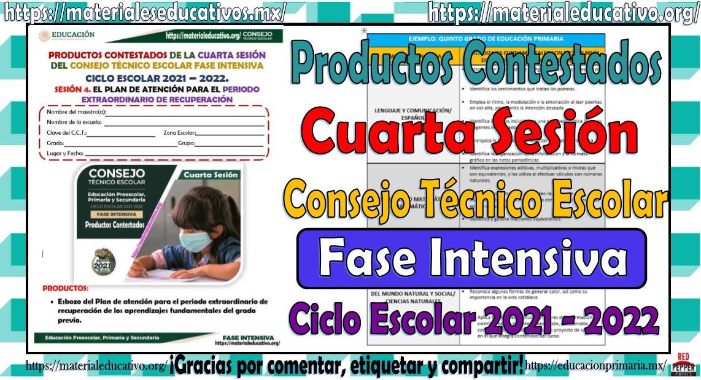 Productos Contestados De La Cuarta Sesión Del Consejo Técnico Escolar
